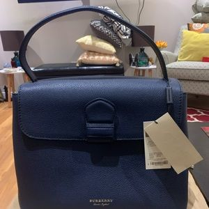 Burberry Derby Medium Grainy Leather Tote